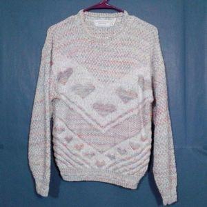 United States Sweaters Vtg pastel rainbow hearts